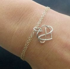Gift for daughter from mom, infinity heart bracelet, wedding gift ...