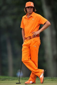Rickie Fowler in Sunday orange. He is the best dressed dude on the PGA tour.