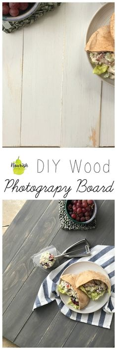 Step by step guide + pictures to your very own DIY Wood Photography Board |  #photography #background #DIY