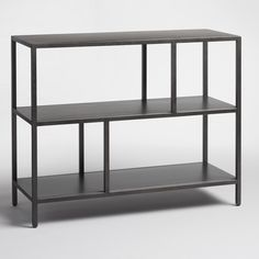 With a clean, open design, our two-shelf bookcase boasts sleek metal construction and contemporary versatility for an incredible value. www.worldmarket.com #WorldMarket Home Office