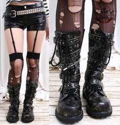 The most perfect rocker girl boots I have ever seen.