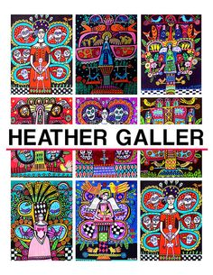 heather galler coloring book art pages diy by heathergallerart