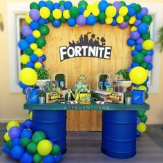 Want to plan an epic Fortnite themed birthday party, but not sure where to start? We hear you and have you covered! Check out all these ideas, from invites to favors! 13th Birthday Parties, Birthday Party Games, 12th Birthday, Birthday Party Decorations, Birthday Ideas, 7th Birthday Party For Boys, Party Favors, Birthday Activities, Happy Birthday