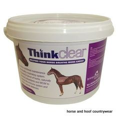 Brinicombe Think Clear A new and innovative granular mixture formulated to support the respiratory system soothe and relax the breathing and maintain a clear airway.