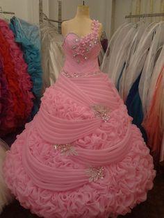 2014 Desi Wedding Dresses, Evening Dresses For Weddings, Pink Prom Dresses, Prom Dresses With Sleeves, Beautiful Prom Dresses, Crystal Wedding Dresses, Wedding Dress Necklines, Quinceanera Dresses, Ball Dresses