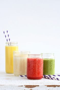 4 smoothies with different health benefits