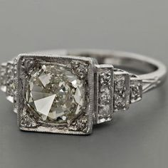 Art Deco engagement rings- Gorgeous!