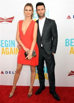 """Behati Prinsloo and Adam Levine attend the premiere of """"Begin Again"""" held at the SVA Theatre in New York City on June 25, 2014.Like us on Facebook?"""