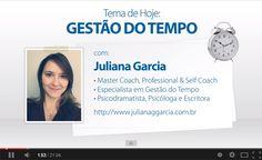 Seleção de vídeos sobre coaching, gestão do tempo, estilo de vida, fazer o que ama... Clique no link abaixo para conferir: http://julianaggarcia.com.br/videos/