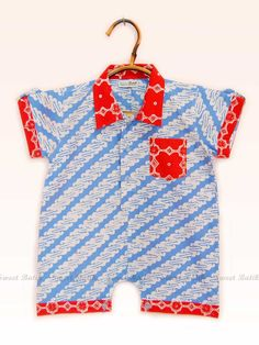 Baby Boy Batik Romper by Sweet Batik Indonesia. -BelindoMag