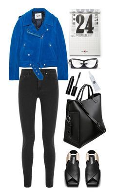 """Acne mape suede biker jacket"" by thestyleartisan ❤ liked on Polyvore featuring Acne Studios, Kate Spade, Bobbi Brown Cosmetics, Kre-at Beauty, women's clothing, women's fashion, women, female, woman and misses"