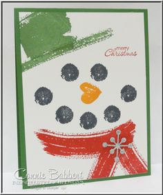 Work of Art Snowman This Stampin up lady is in Dublin or Hilliard
