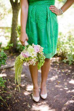 green wedding dress #2014 Valentines day wedding #Summer wedding ideas www.dreamyweddingideas.com