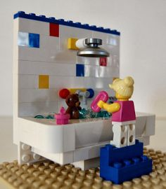 """Fluff Me"" station for my Build-A-Bear store made with LEGO Sewing for American Girl Dolls: LEGO"