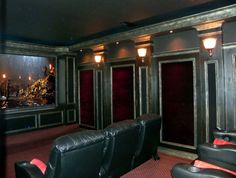 Home Theater, Media Room, Game Room, Basement, Diy, Home Theater ,