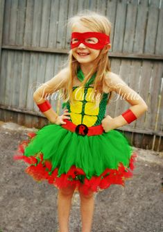Girls Halloween Costumes - Teenage Mutant Ninja Turtle Tutu Dress Costume by TutieCutieTutus Ninja Turtle Party, Ninja Turtles, Ninja Turtle Tutu, Ninja Turtle Birthday, Diy Ninja Turtle Costume, Costume Ninja, Halloween Costumes For Kids, Diy Costumes, Costume Ideas