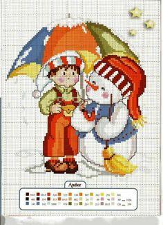 <3 Cross Stitch Floss, Xmas Cross Stitch, Just Cross Stitch, Cross Stitching, Cross Stitch Embroidery, Cross Stitch Patterns, 1st Christmas, Christmas Cross, Zipper Crafts