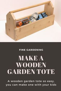 Learn how to make this wooden garden tote step by step with help from our sister site, Fine Woodworking. The garden tote is easy enough to complete in an afternoon, and is a handy tool for any avid gardener. Woodworking Magazine, Fine Woodworking, Fine Gardening, Bainbridge Island, Spring Photos, Diy Garden Projects, Wooden Garden, Garden Supplies, Cool Tools