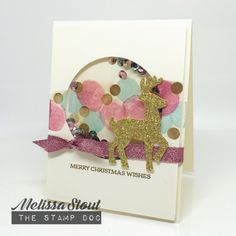 Stampin' UP! Santa's Sleigh and Twinkle Trees Shaker Card by Melissa Stout