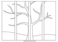 Four Seasons Painting, Four Seasons Art, Canvas Painting Projects, Art Projects, Doodle Coloring, Colouring Pages, Multi Canvas Art, Apple Theme, Simple Acrylic Paintings