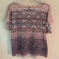 Aztec Print Top Like-new Aztec print top.  Very comfortable, fits loosely. American Age Tops Blouses