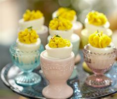 Enjoy your hardboiled eggs in these colorful Fluted Glass Egg Cups at Cost Plus World Market >> #WorldMarket Easter Traditions, Easter Entertaining, Easter Decor