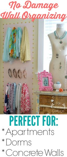 Teen girl room decor tips; A teenage female has some distinct thoughts about who…, … – Aufbewahrung Diy Organizer, Organization Station, Closet Organization, Organisation Ideas, Jewelry Organization, Apartment Walls, Dorm Life, College Life, Teen Girl Bedrooms