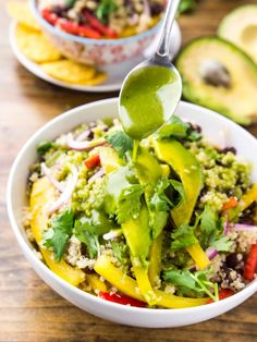 cilantro lime black bean quinoa