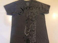 Chemistry T Shirt Graphic Tee Grey Blk Sacrifice Vengeance Cross EUC Mens Small #Chemistry #GraphicTee #MMA