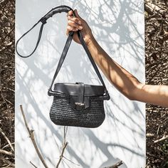 9da389035f62 Khokho Thembi Straw Black Basket Bag Latest Handbags