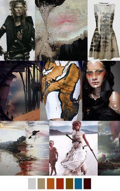 POST-APOCALYPSE, fashion mood board / trend / color
