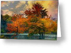 Dreamy Morning Greeting Card by Scott Hervieux