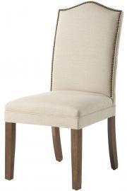 Custom Camel-Back Parsons Chair with Nailhead Trim