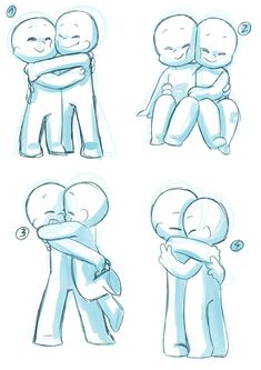 Hug Drawing Reference and Sketches for Artists Art Drawings Sketches, Cute Drawings, Hug Pose, Hugging Drawing, Couple Poses Drawing, Couple Sketch, Sketch Poses, Drawing Templates, Poses References