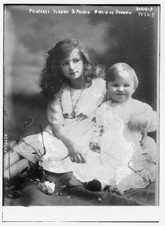 Princess Ileana of Romania and Prince Mircea of Romania. They where the youngest children of Crown Prince Ferdinand of Romania and his wife Crown Prince. Queen Victoria Descendants, Princess Victoria, Princess Alexandra, Princess Beatrice, History Of Romania, Romanian Royal Family, Elisabeth I, Royal King, Royal Babies