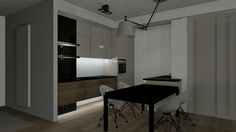 salon, kuchnia, jadalnia