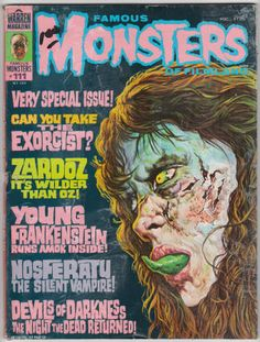 Famous Monsters Of Filmland #111, October 1974, VG, $8.50 - Basil Gogos cover painting