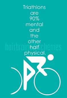Triathlons Mental Game Quote modern graphic by hairbrainedschemes, $15.00