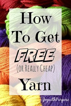 YARN (or Really Cheap) and How to Get It Top 10 to get FREE (or really cheap) Yarn and items for charity includingTop 10 to get FREE (or really cheap) Yarn and items for charity including Crochet Gifts, Crochet Yarn, Free Crochet, Crochet Stitches, Crochet Granny, Crochet Craft Fair, Crochet Blogs, Learn Crochet, Mandala Crochet