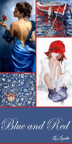 Good Evening ladies. Thank you for another beautiful board today. Lovely pins! For tonight and tomorrow I'd like to pin this color board of BLUE AND RED. Please NO NAVY. we will do navy and red another time. Thank you and Happy Pinning.