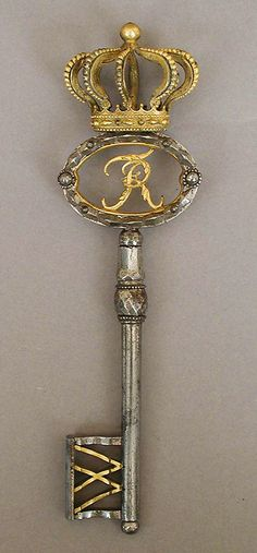Excellent Vintage condition Some Discoloration due to age Please refer to photos which are part of description.Palace Key, Germany, late century, the Metropolitan Museum of Art. Under Lock And Key, Key Lock, Antique Keys, Vintage Keys, Antique Jewelry, Metropolitan Museum, Cles Antiques, Old Keys, Knobs And Knockers