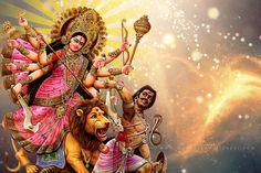Durga Chalisa in hindi- दुर्गा चालीसा - Navratri durga chalisa lyrics Durga Puja Image, Maa Durga Photo, Durga Ji, Durga Goddess, Durga Picture, Maa Durga Hd Wallpaper, Navratri Wallpaper, Message Sms, Maa Image