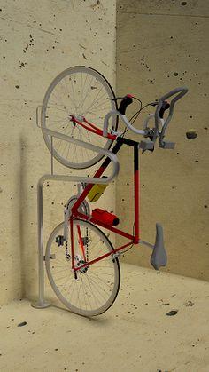 Stand Up Floor Mount - Vertical Bike Parking - Commercial Bike Racks | Bike Security Racks