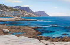 Painting of Sea Point Triptych left hand painting South African Artists, Seascape Paintings, Triptych, Westerns, Hand Painted, Water, Outdoor, Gripe Water, Outdoors