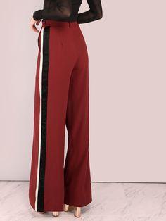 2d14d981f9356 Tailored Colorblock Lined Wide Leg Pants BRICK