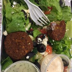 Darna Falafel - Brooklyn, NY, United States. Falafel salad. Carrol Gardens/Cobble Hill