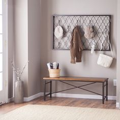 Awesome Diy Ideas: Minimalist Home Modern Inspiration minimalist bedroom small modern.Minimalist Bedroom Interior Dreams minimalist home modern inspiration. Decor, Furniture, Hallway Decorating, Hall Tree With Storage, Stylish Decor, Home Decor, Wall Mounted Coat Rack, Minimalist Entryway, Farmhouse Side Table
