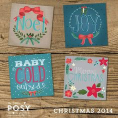This lovely set of 8 Christmas Cards
