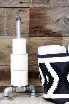 Industrial DIY Toilet Paper Holder   KristiMurphy.com