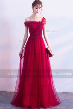 A-Line Lace Long Evening Dresses Glamorous Evening Dresses, Elegant Dresses, Cute Dresses, Evening Gowns, Formal Dresses, Red Formal Gown, Homecoming Dresses, Bridesmaid Dresses, Beautiful Gowns